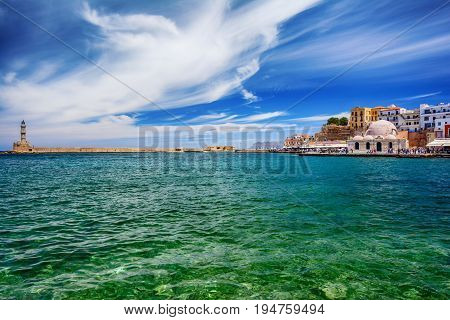 Venetian architecture in Chania, Crete island, Greece