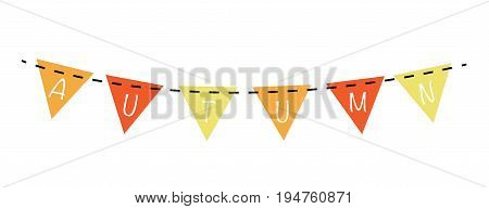 Autumn Fall Harvest Orange and Yellow Bunting