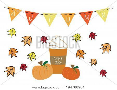 Autumn Pumpkin Pie Spice with Bunting Banner
