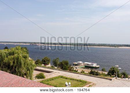 View To The Volga River Volgograd Russia