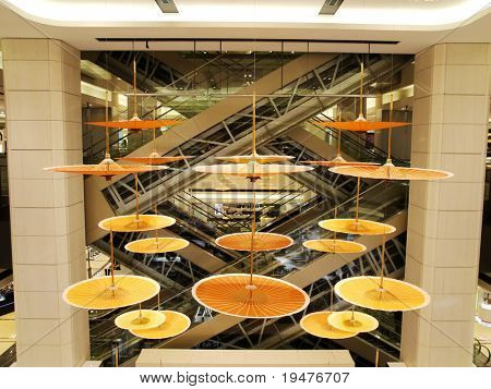 Interior design of department store