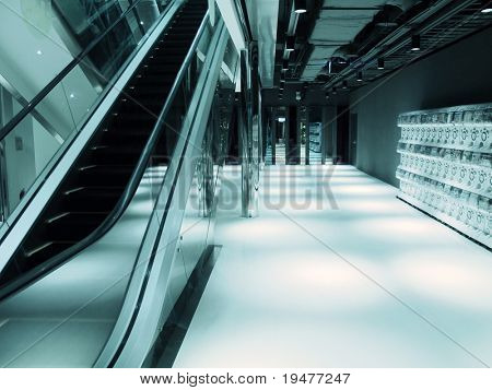 Escalator and walkway