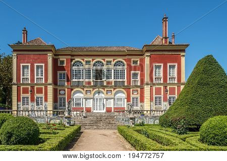 LISBON,PORTUGAL - MAY 17,2017 - Palace Marquesses of Fronteira - National Monument in Lisbon. Lisbon is the capital of Portugal.