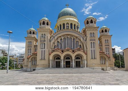 PATRAS, GREECE - MAY 28, 2015: Saint Andrew Church, the largest church in Greece, Patras, Peloponnese, Western Greece