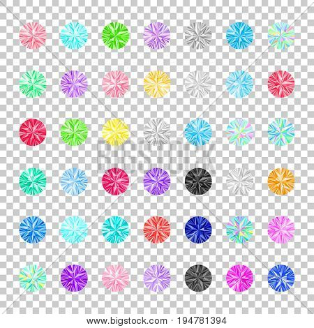 Rhinestones set. Gems vector collection. Jewelry. Fashion design. Simple diamonds isolated. Rhinestones for iron transfer. Fabric embroidery.