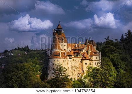 Medieval Bran castle, Brasov landmark, Transylvania, Romania.
