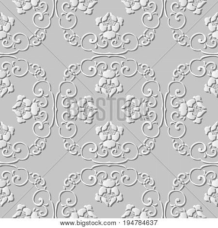 3D Paper Art Pattern Spiral Cross Chain Flower