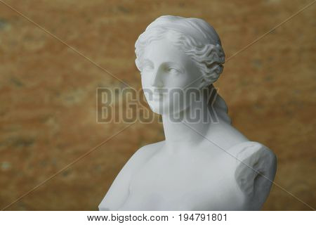 Statue of Aphrodite, ancient Greek god of beauty.