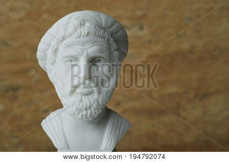 Statue of Pythagorasancient greek mathematician and geometer. poster
