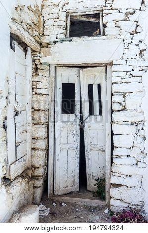 old doors of Greek islands ( Folegandros)