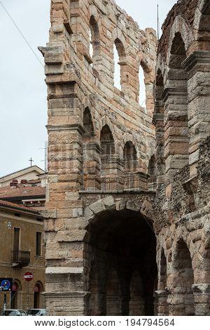 Ancient roman amphitheatre Arena in Verona Italy