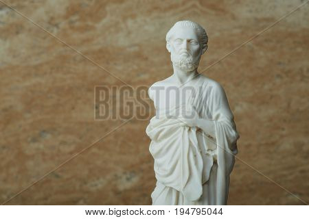 Statue of Hippocrates , ancient Greek physician