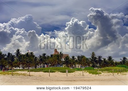 Clouds over South Beach Miami, Florida