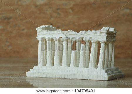 Parthenon statue of the Acropolis in Athens.
