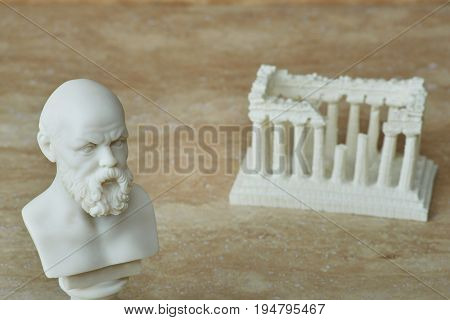 Statue of Socrates, ancient Greek philosopher in Athens..