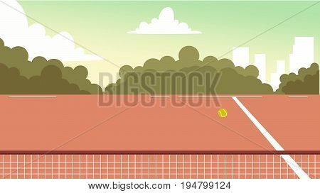 Digital Vector Tennis Court Background For Commercial, Character, Animation