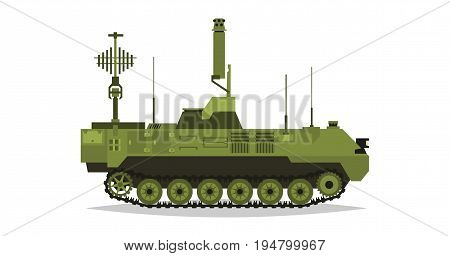 Air defense control system. Broadcasting, satellite communication. Antennas, receivers. Determining enemy locations. Special military equipment. All Terrain Vehicle, heavy vehicles