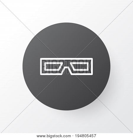 3D Glasses Icon Symbol. Premium Quality Isolated Spectacles Element In Trendy Style.