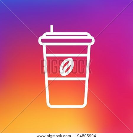 Isolated Espresso Outline Symbol On Clean Background. Vector Cappuccino Element In Trendy Style.