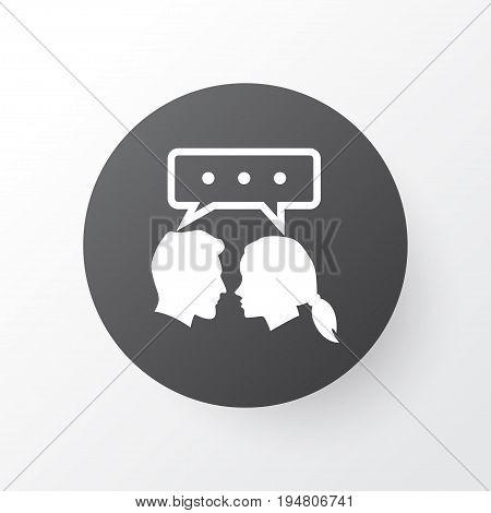 Dialog Icon Symbol. Premium Quality Isolated Conversation Element In Trendy Style.