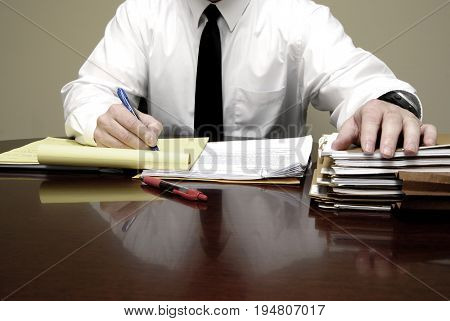 Young attorney lawyer at desk businessman negotiations