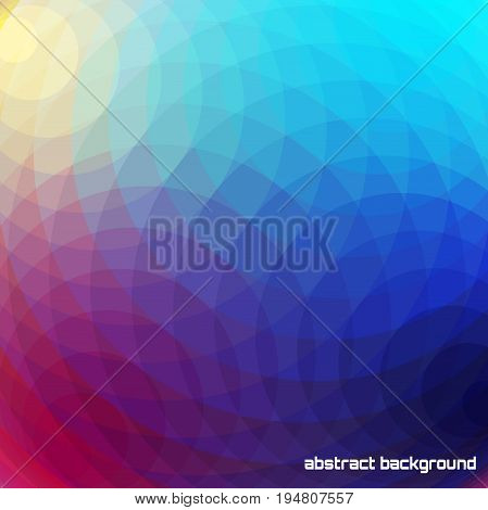 Abstract polygonal vector background. Multicolor bright geometry