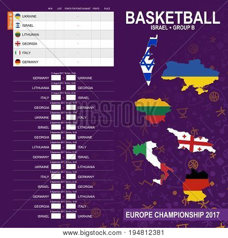 European Basketball Championship 2017, Group B In Tel Aviv, Israel. All Matches, Time And Place.