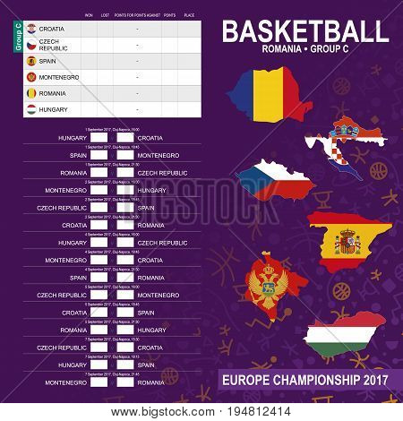 European Basketball Championship 2017, Group C In Cluj-napoca, Romania. All Matches, Time And Place.