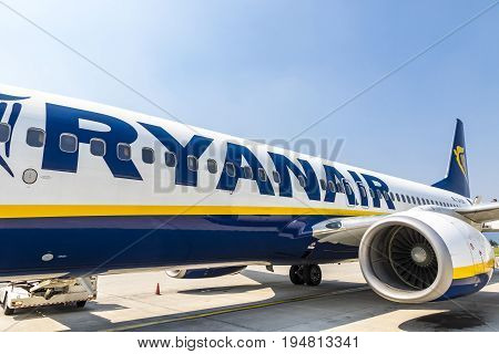 Boeing 737-8As (ryanair) In Bergamo Airport