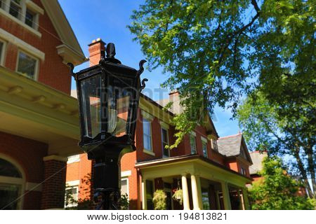 German Village, just south of downtown Columbus, Ohio, is known for beautiful brick homes and lush gardens