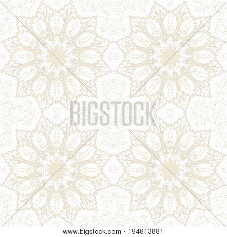 Seamless vector background. Vintage ornate damask pattern.