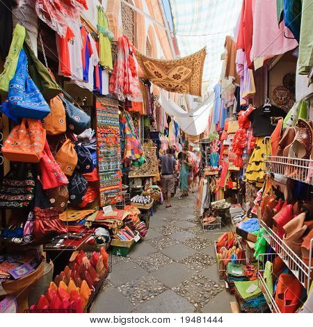 Street market in Granada, Spain