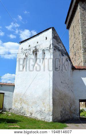 Fortified saxon medieval church Homorod, Transylvania, Romania