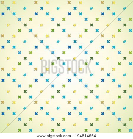 Vector seamless background. Cross-stitch embroidery and beadwork.