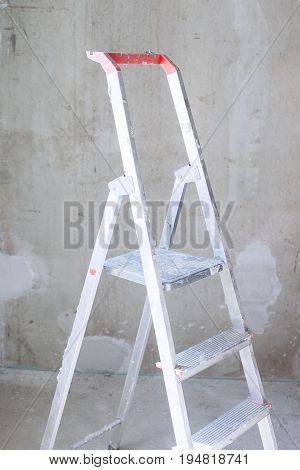 Room With Ladder And Wall Background