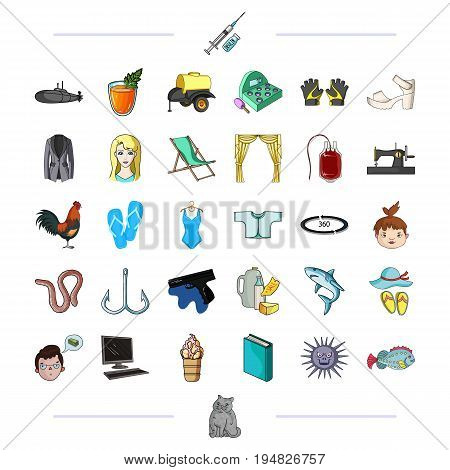 sports, medicine, sea and other  icon in cartoon style.animals, recreation, textiles icons in set collection.