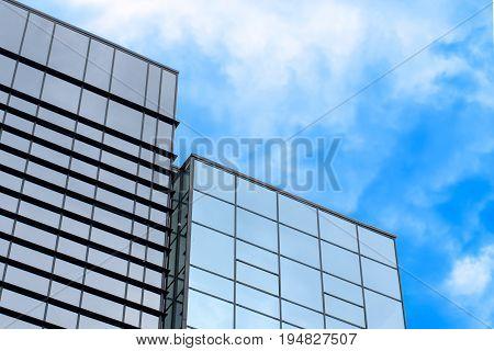 Modern office building, against the blue sky