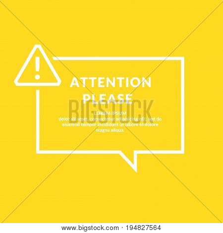 A warning sign. Informational poster for the site. Vector illustration