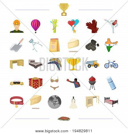 , tourism, wedding, sportsand other  icon in cartoon style.business, textiles, furniture icons in set collection.