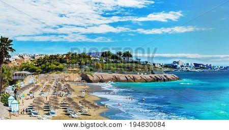 El Duque beach at Costa Adeje. Tenerife Canary Islands Spain