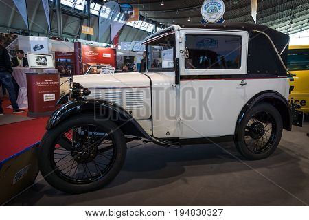 STUTTGART GERMANY - MARCH 17 2016: Vintage car BMW 3/15 PS DA2 (