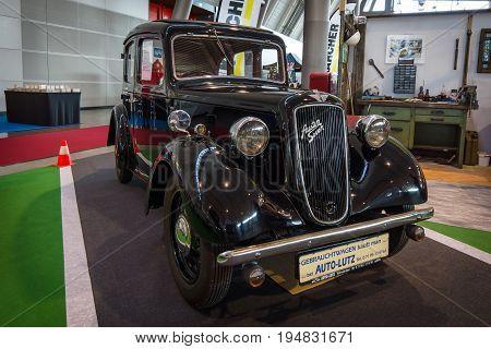 STUTTGART GERMANY - MARCH 17 2016: Vintage car Austin Big 7 Saloon 1937. Europe's greatest classic car exhibition