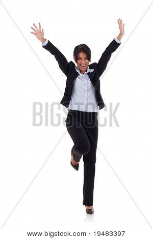 Very Happy Business Woman