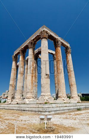 Temple of Olympian Zeus, Athens, Greece poster