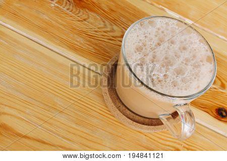 Hot tea with milk or 'Teh Tarik' the Malaysian favorite drink.