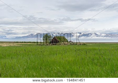 the Chapel at Grof in Hofdastrond in North-Iceland - is Iceland's oldest turf church. Parts of the current turf church date back to the 17th century.