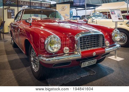 STUTTGART GERMANY - MARCH 18 2016: Vintage car MG TD by coachbuilder Carrozzeria Vignale 1952. Europe's greatest classic car exhibition