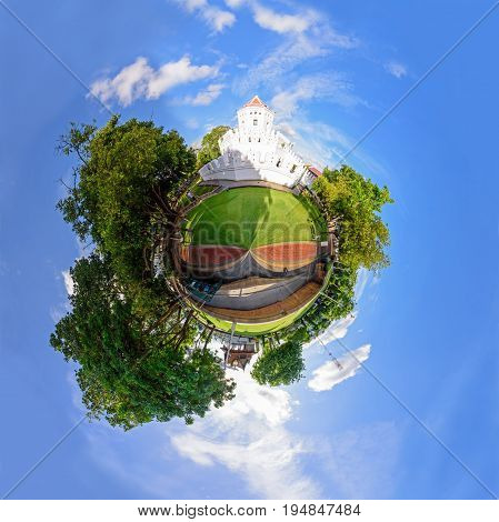 360 Panorama of Phra Sumen Fortress in Santichai Prakan Park / circle panorama of Phra Sumen Fortress