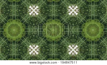 Abstract animation with hand drawn geometric kaleidoscope pattern.