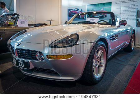 STUTTGART GERMANY - MARCH 18 2016: Sports car BMW Z8 2000. Europe's greatest classic car exhibition